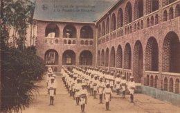 La Leçon De Gymnastique à La Mission De Kissantu ( Congo Belge Belgisch Kongo ) - Congo Belge - Autres