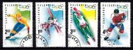 Bulgarien 1994 Mi.nr: 4103-4106 Winterspiele Lillehammer Oblitérés / Used / Gestempeld - Winter 1994: Lillehammer