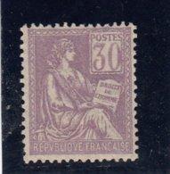 France - Année 1900-01 - N°115** - Type Mouchon - 30c Violet - Bon Centrage - Cote 315€ - 1900-02 Mouchon