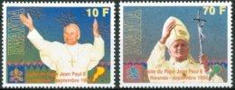 Rwanda Ruanda 1990 OBCn° 1377-1378  Cote 20 € Pâpe Jean-Paul II Paus Johannes-Paulus II - Rwanda