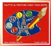 """SUPER PIN'S VILLE Et ART : PALETTE De PEINTURE """"LA TOUR EIFFEL"""", Source D'inspiration Pour Las ARTISTES, émail Cloisonné - Steden"""