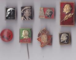 OLD PIN  --   RUSSIA  --  LOT  8 X LENIN  --  COMMUNIST - Berühmte Personen