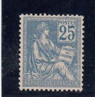 France - Année 1900-01 - N°118** - Type Mouchon - 25c Bleu - Bon Centrage - Cote 560€ - 1900-02 Mouchon