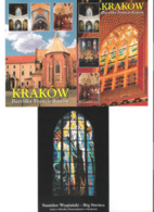 Poland - 3 Cards - Krakow - Bazylika Franciszkanow - Basilika - Kirche - Church - Eglise - Kirchen U. Kathedralen