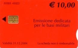 *ITALIA: BASI MILITARI - Cod. 00080* - Scheda A CHIP Usata - Usages Spéciaux