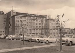 GERMANY - Berlin 1969 - Hotel Johannishof - Automotive - Skoda 1000 MB - GAZ M21 Volga - Mitte