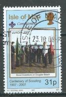 Ile De Man YT N°1372 Europa 2007 Scoutisme Oblitéré ° - 2007