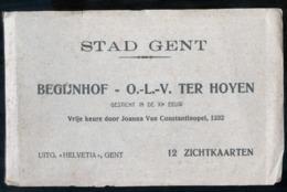 BELGIO - BELGIQUE - GAND - GENT - INIZI 900 - ALBUM DI 12 CARTOLINE - BEGIJNHOF TER HOYEN - 12 ZICHTKAARTEN - Gent