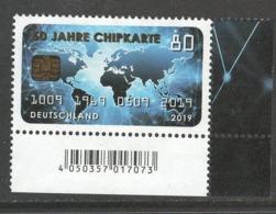 Duitsland, Mi 3494 Jaar 2019; Chipkarte,  Hoekblok, Prachtig Gestempeld - [7] République Fédérale