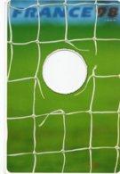 Carte Publicitaire A Système  Football -FRANCE 98 - Filet De But Avec Trou - Soccer