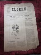 """1ER SEPT 1893  """"LA CLOCHE"""" JOURNAL SATIRIQUE-LITTÉRAIRE-ARTISTIQUE-HUMORISTIQUE- PAUL VERLAINE - 1850 - 1899"""