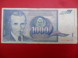 Yugoslavia-Jugoslavija 1000 Dinara 1991, P-110a - - - 100529 - - - - Jugoslavia