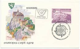 Mi 1573 FDC / CEPT Europa Architecture Heritage Riegersburg Castle - 3 May 1978 - FDC
