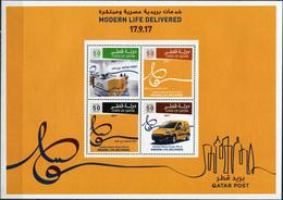 Qatar 2017. Qatar Post: Modern Life Delivered (MNH OG) Miniature Sheet - Qatar