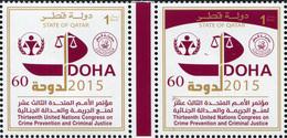 Qatar 2015. 13th United Nations Congress On Criminal Justice (MNH OG) Block - Qatar