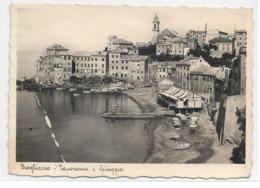 CARD BOGLIASCO  PANORAMA E SPIAGGIA PIEGA A SINISTRA    (GENOVA)  FG-V-2-0882-29108 - Genova (Genoa)