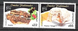FF01-URUGUAY 2019 UPAEP AMERICA,TRADITIONAL FOODS,MEALS PAIR NEUF,MINT MNH,POSTFRICH - Uruguay