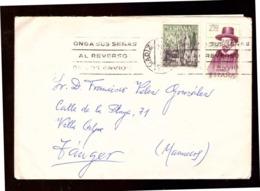 España. Sobre Sellado. Sellos. Matasellos 1968. Tanger.  Publicidad. - 1931-Hoy: 2ª República - ... Juan Carlos I
