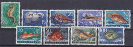 Yugoslavia Republic Sea Fish 1956 Mi#795-803 Used - 1945-1992 Repubblica Socialista Federale Di Jugoslavia