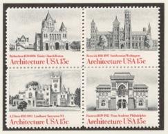 United States 1980 Mi# 1445-48** AMERICAN ARCHITECTURE - Unused Stamps
