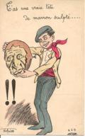 NORWINS Illustrateur T'AS UNE TETE DE MARRON SCULPTE Humour - Illustrateurs & Photographes