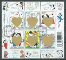 Finlande YT N°1387/1392 Jour De La Saint-Valentin (Bloc-feuillet) Oblitéré ° - Finlande