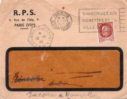 LSC 1942 - Cachet Héxagona Perlé ETAMPES (Seine Et Oise) CP N°4 Et Cachet PARIS 118 - Enveloppe Entête R.P.S. - Lettres & Documents