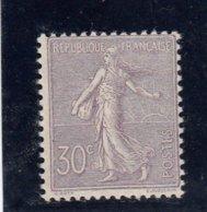 France - Année 1903 - N°133** - Type Semeuse Lignée - 30c Lilas - Cote 550€ - 1903-60 Semeuse A Righe
