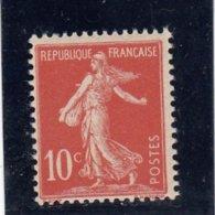 France - Année 1906 - N°134** - Type Semeuse Fonds Plein Avec Sol - 10c Rouge - 1906-38 Semeuse Con Cameo