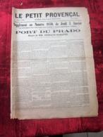 LE PETIT PROVENÇAL Politique Quotidien SUPPLÉMENT AU  JOURNAL TUNNEL DU PORT DU PRADO MARSEILLE PROJET DUSSAUD RABATTU - Newspapers