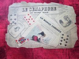 LE SÉMAPHORE LE + ANCIEN JOURNAL DE MARSEILLE UNE DEMI PAGE  DU JOURNAL DE 1827 - Kranten