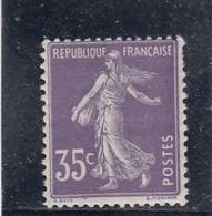 France - Année 1906 - N°136** - Type Semeuse Fonds Plein Sans Sol - 35c Violet Clair (IIA) - 1906-38 Sower - Cameo