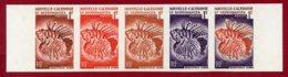 New Caledonia 1959 #307, Color Proof Stripe Of 5, Lion Fish - Neukaledonien