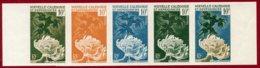 New Caledonia 1959 #309, Color Proof Stripe Of 5, Glaucus & Spirographe, Marine Life - Neukaledonien