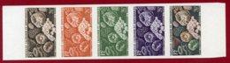 New Caledonia 1959 #310, Color Proof Stripe Of 5, Corals, Marine Life - Neukaledonien