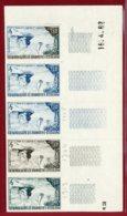 New Caledonia 1962 #320, Color Proof Stripe Of 5, Sail Rock & Sail Boats - Neukaledonien