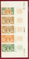 New Caledonia 1966 #347, Color Proof Stripe Of 5, 20th Anniversary Of UNESCO - Neukaledonien