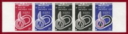 New Caledonia 1966 #344, Color Proof Stripe Of 5, 2nd South Pacific Games - Neukaledonien