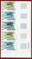 New Caledonia 1983 #C188B, Color Proof Stripe Of 5 (1), Pou-du-Ciel, Plane - Nieuw-Caledonië