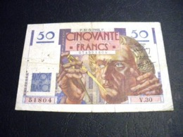 """FRANCE 50 Francs 31/05/1946 """"le Verrier"""", Pick N° 127 A ,fayette N°20 (5), FRANCIA ,FRANKREICH , - 1871-1952 Circulated During XXth"""
