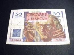 """FRANCE 50 Francs 31/05/1946 """"le Verrier"""", Pick N° 127 A ,fayette N°20 (5), FRANCIA ,FRANKREICH , - 1871-1952 Anciens Francs Circulés Au XXème"""