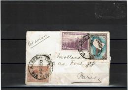 LCTN57/5 -  ARGENTINE FORMAT CARTE DE VISITE AVION POUR PARIS DECEMBRE 1938 PERFIN BANCO FRANCES DEL RIO DE LA PLATA - Luftpost
