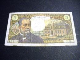 "FRANCE 5 Francs 04/04/1968 ""Pasteur"", Pick N° 146 B ,fayette N°61 (7), FRANCIA ,FRANKREICH , - 1962-1997 ''Francs''"