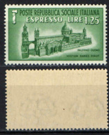 ITALIA RSI - 1944 - DUOMO DI PALERMO - MNH - 4. 1944-45 Repubblica Sociale