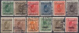 JUGOSLAVIA - 1933 - Lotto Composto Da 12 Valori Usati: Yvert 239/241, 243, 244, 246/248, 250 E 252/254. - Gebraucht