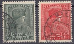 JUGOSLAVIA - 1933 - Serie Completa Formata Da 2 Valori Usati: Yvert 237/238. - Gebraucht