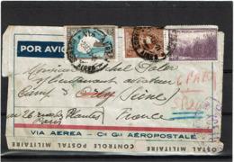 LCTN57/5 -  ARGENTINE LETTRE AVION POUR SECTEUR POSTAL 200 SEPTEMBRE 1939 CENSURE XG510 - Poste Aérienne