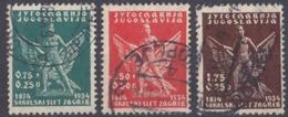 JUGOSLAVIA - 1934 - Lotto Composto Da 3 Valori Usati: Yvert 258/260. - Gebraucht