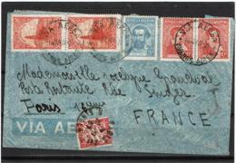 LCTN57/5 -  ARGENTINE LETTRE AVION POUR PARIS POSTE RESTANTE NOVEMBRE 1937 - Poste Aérienne