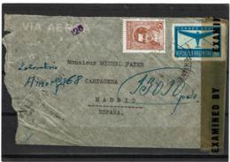 LCTN57/5 -  ARGENTINE LETTRE AVION POUR MADRID NOVEMBRE 1944 CENSURE - Posta Aerea